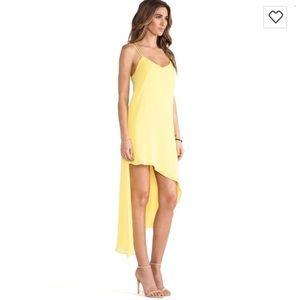 Bardot Asymmetrical Yellow Dress